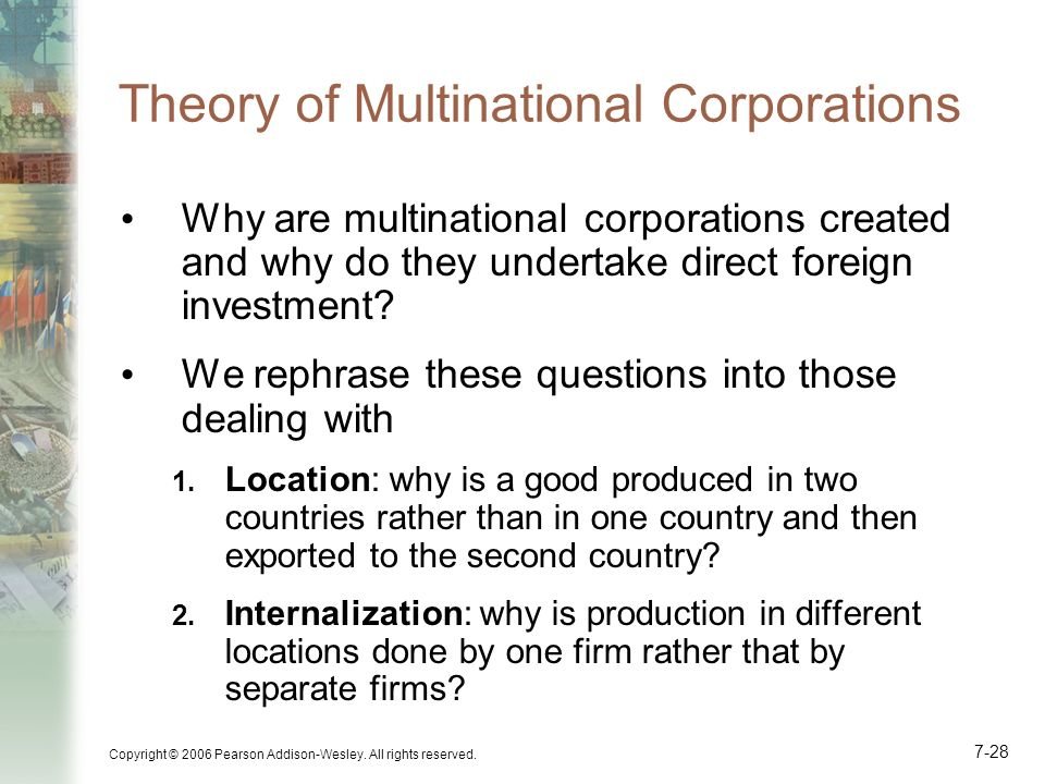 Theory of Multinational Corporations
