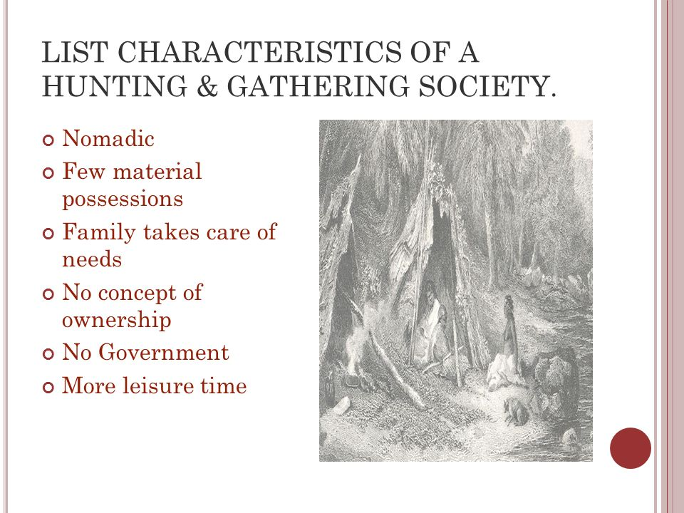 define hunting and gathering societies