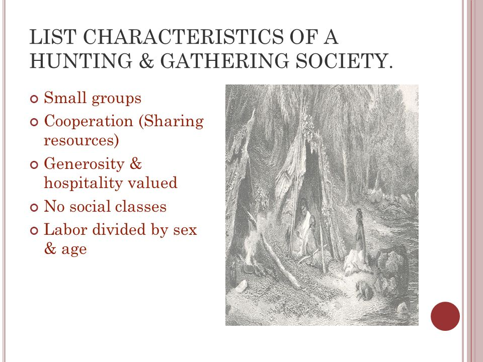 hunting and gathering societies today