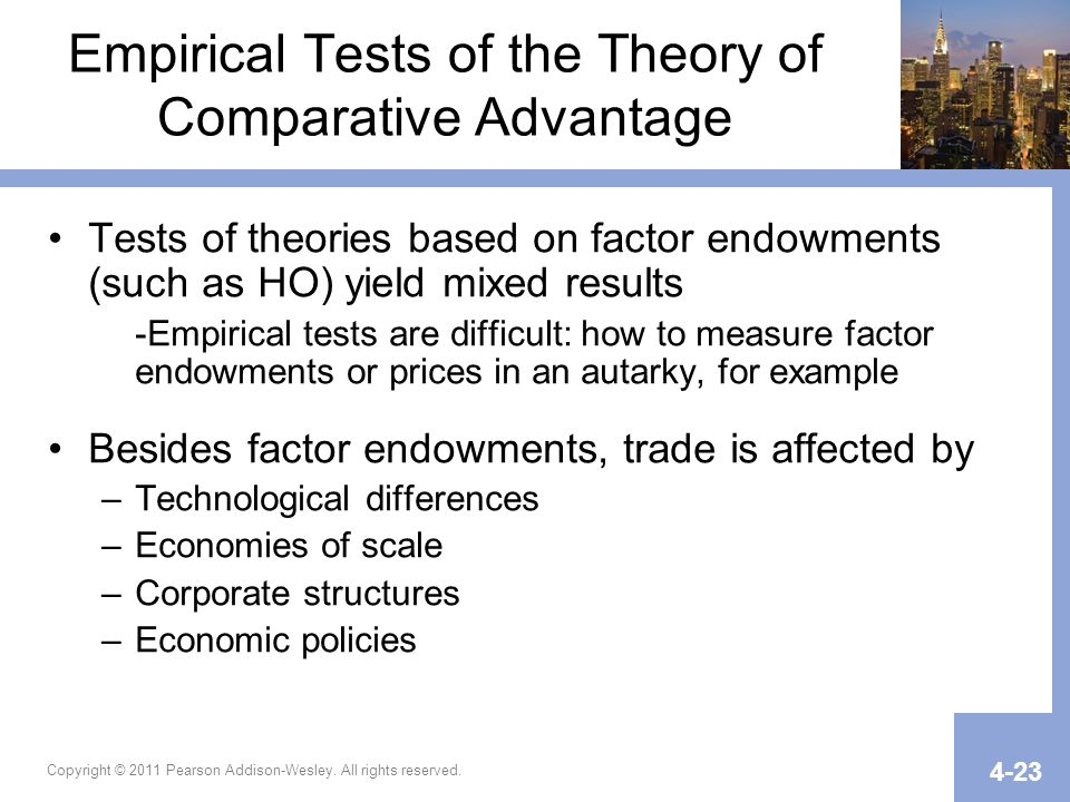 factor endowment trade theory