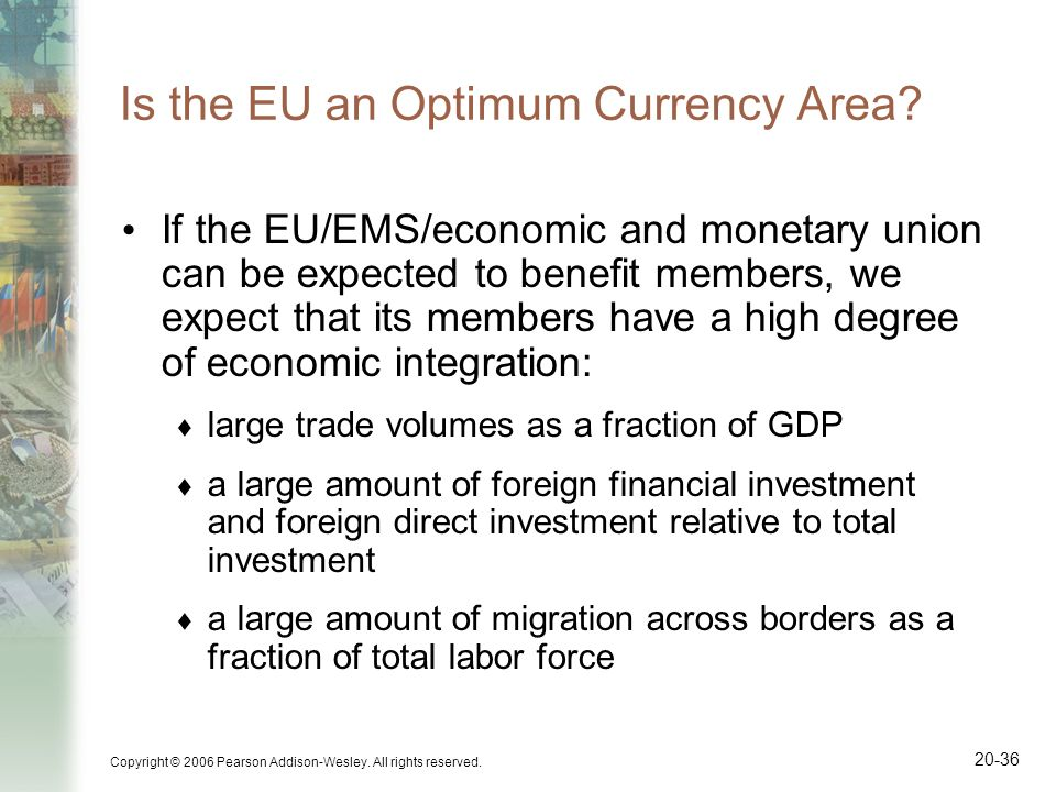 Is the EU an Optimum Currency Area