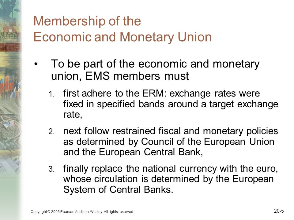 Membership of the Economic and Monetary Union
