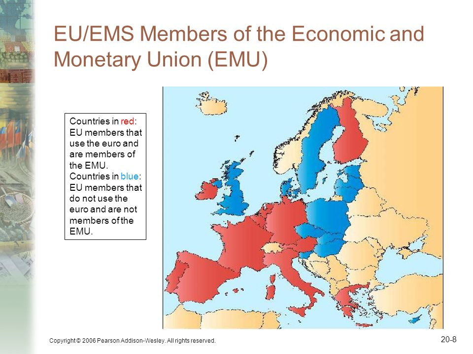 EU/EMS Members of the Economic and Monetary Union (EMU)