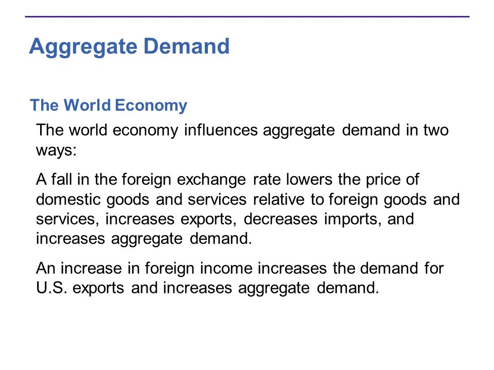 Aggregate Demand The World Economy