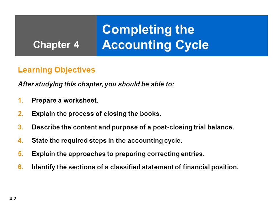 explaining the overall accounting cycle at your organization This paper will explain the overall accounting cycle at the organization you work at another thing that this paper will discuss the description of the accounting cycle is a rational range of numbers of steps that accountants go by to keep requisite accounting records and prepare financial statements.