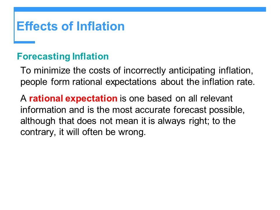 Effects of Inflation Forecasting Inflation