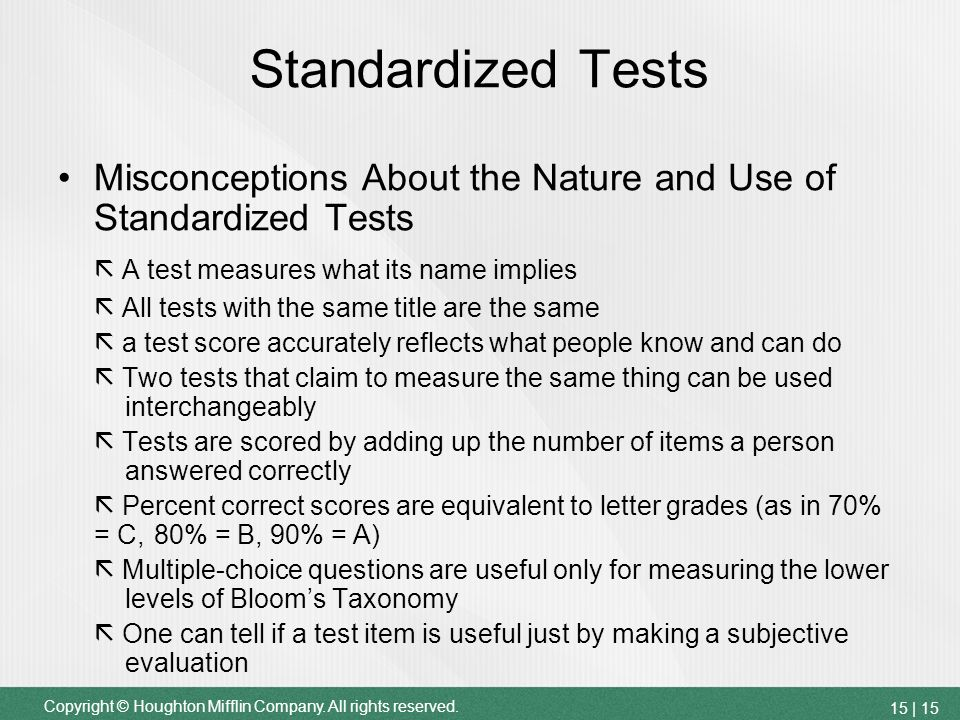 standarized testing The following provides information on four of the most common standardized tests that high school students will take in preparation for the college admissions process sat the sat is a three hour (three hours and fifty minutes with the essay) standardized college admissions test.