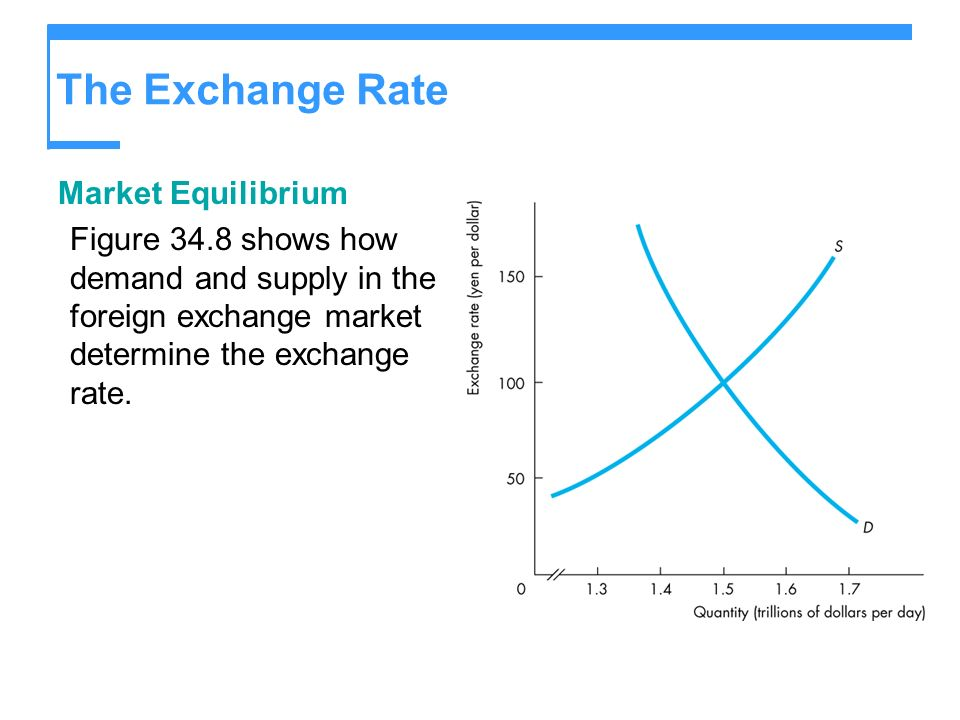 The Exchange Rate Market Equilibrium