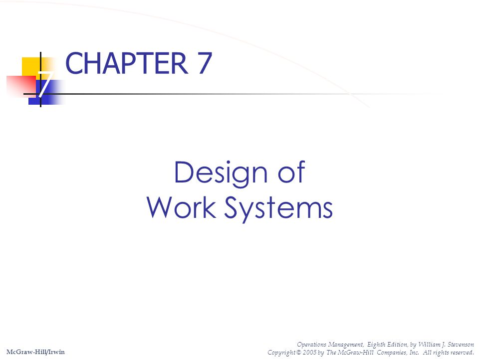 7 Chapter 7 Design Of Work Systems Ppt Download