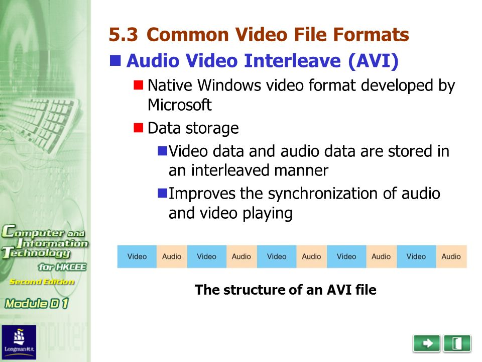 What are the common format for video files? - ppt video