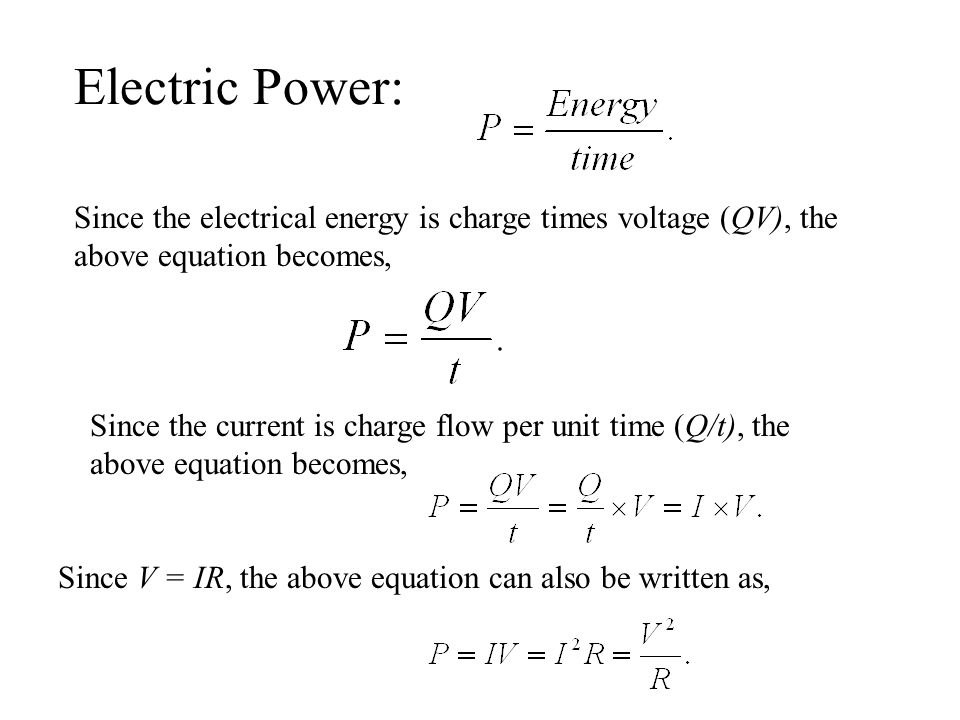 Electric Since The Electrical Energy Is Charge Times Voltage Qv