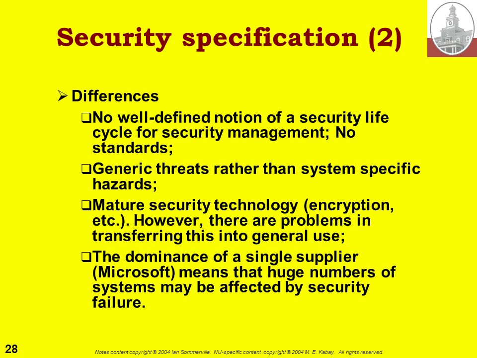 Security specification (2)