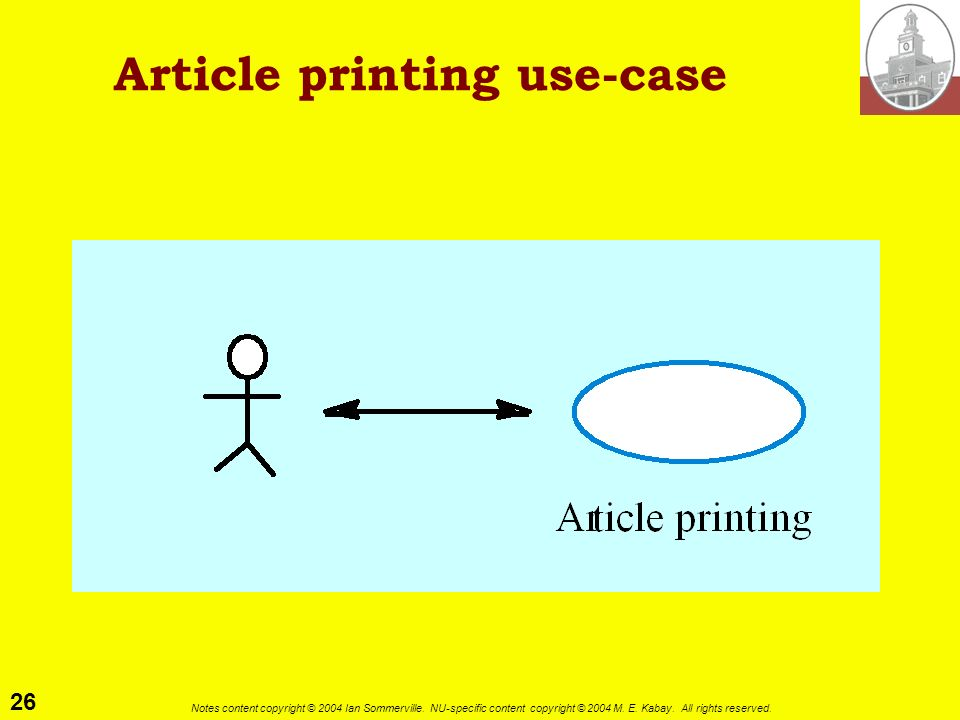 Article printing use-case