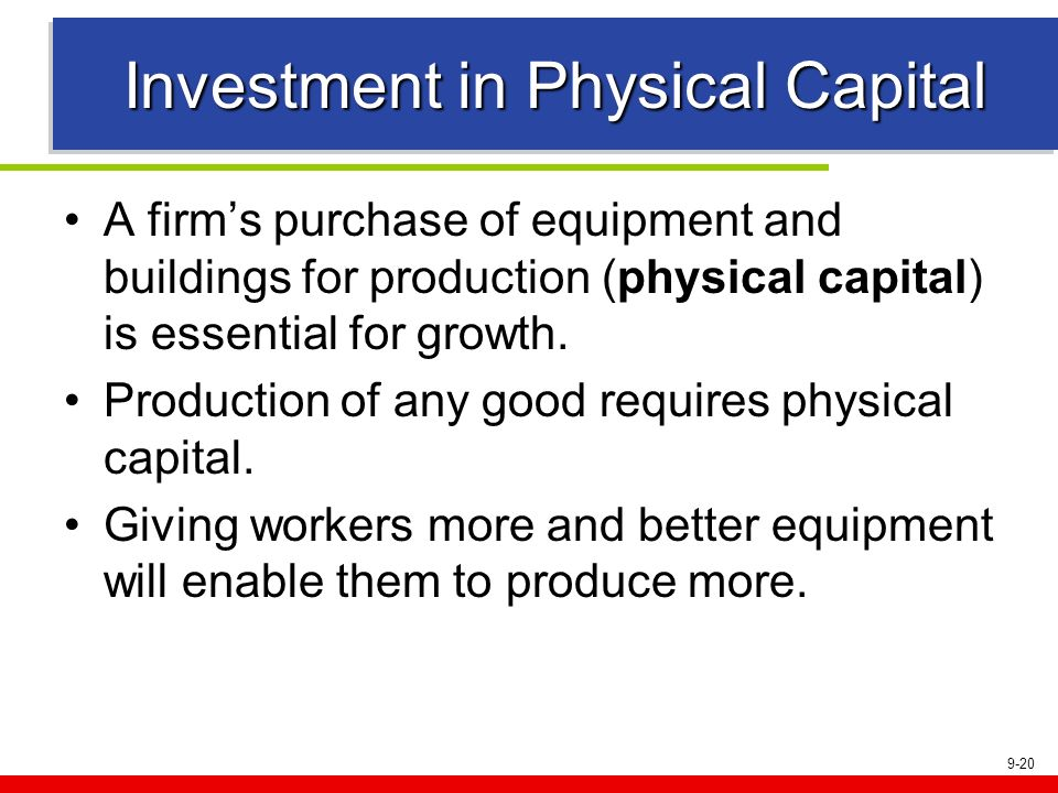 Investment in Physical Capital