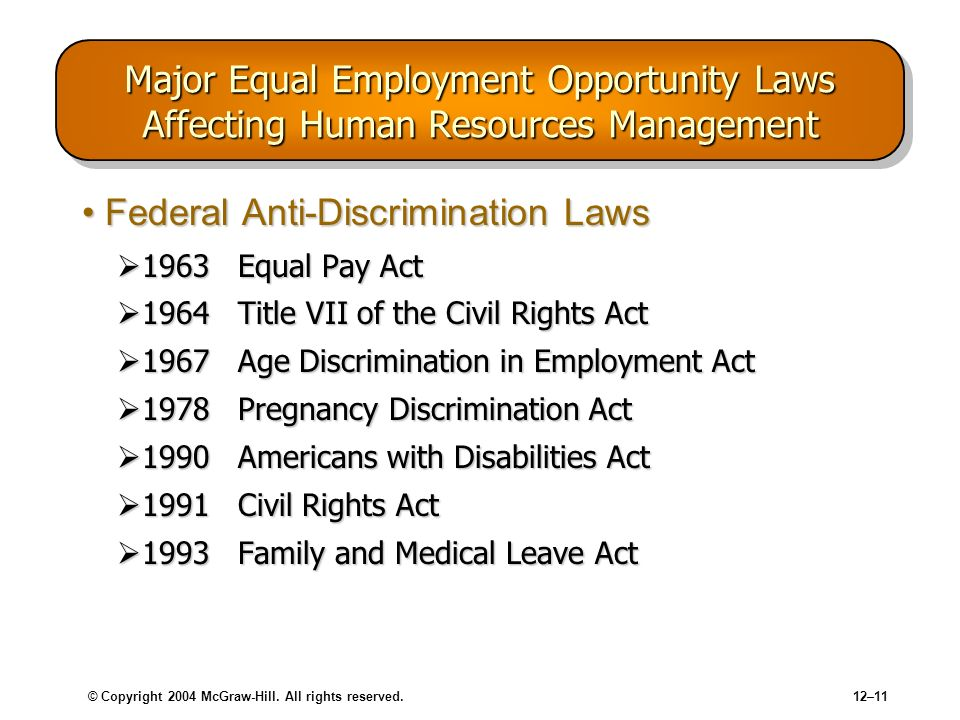 Federal Anti-Discrimination Laws