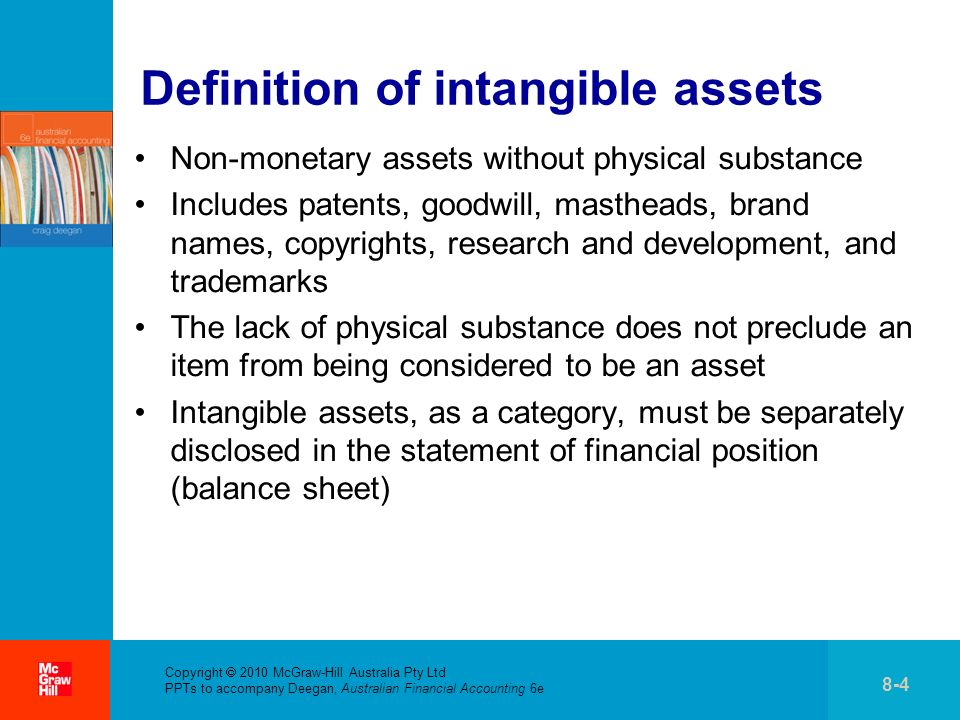 Definition of intangible assets