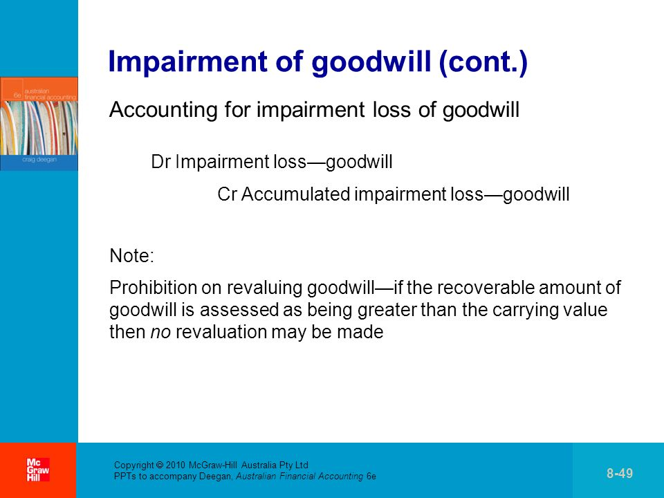 Impairment of goodwill (cont.)