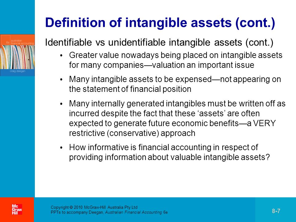 Definition of intangible assets (cont.)