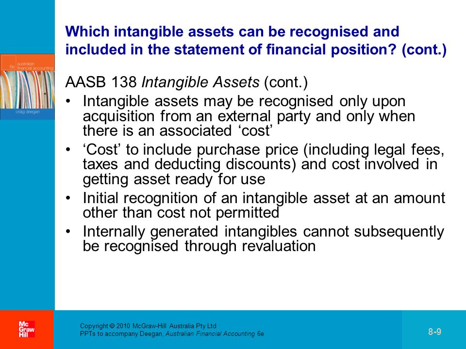 AASB 138 Intangible Assets (cont.)