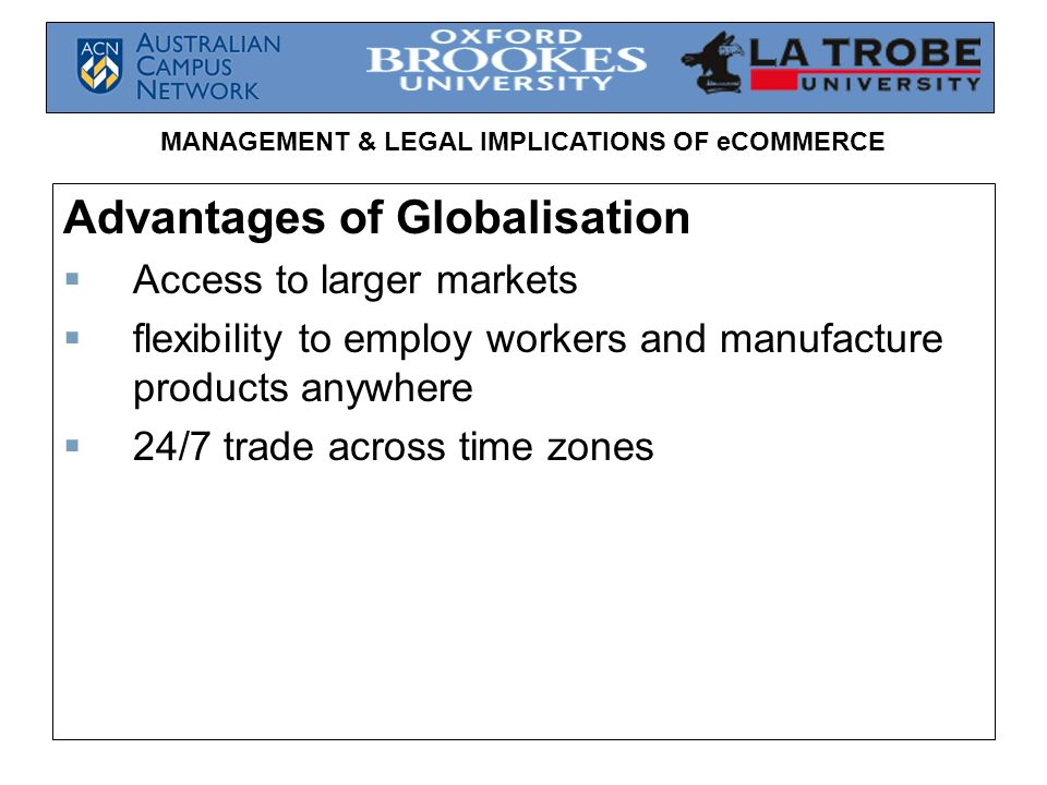 Advantages of Globalisation