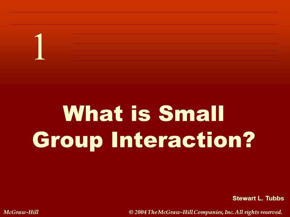 What is Small Group Interaction