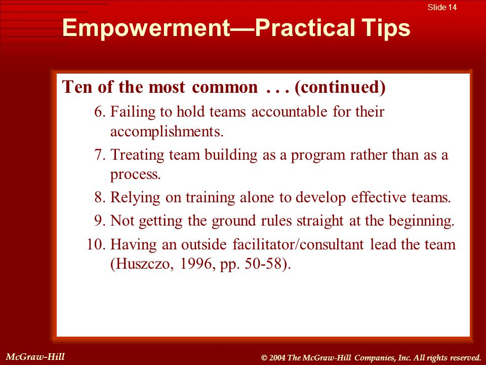 Empowerment—Practical Tips