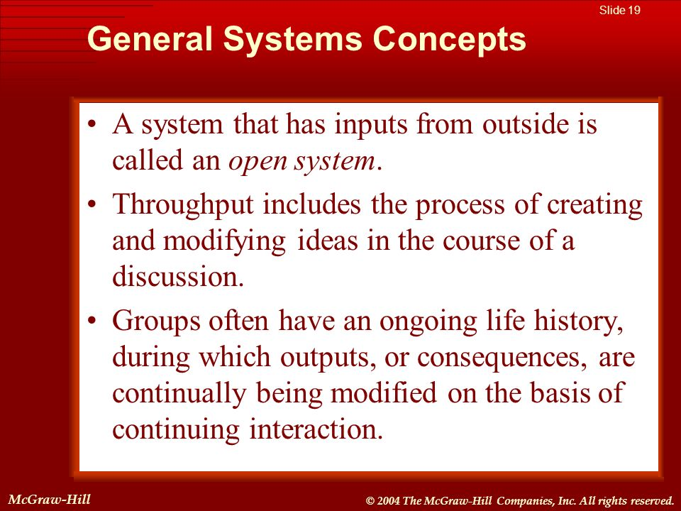 General Systems Concepts