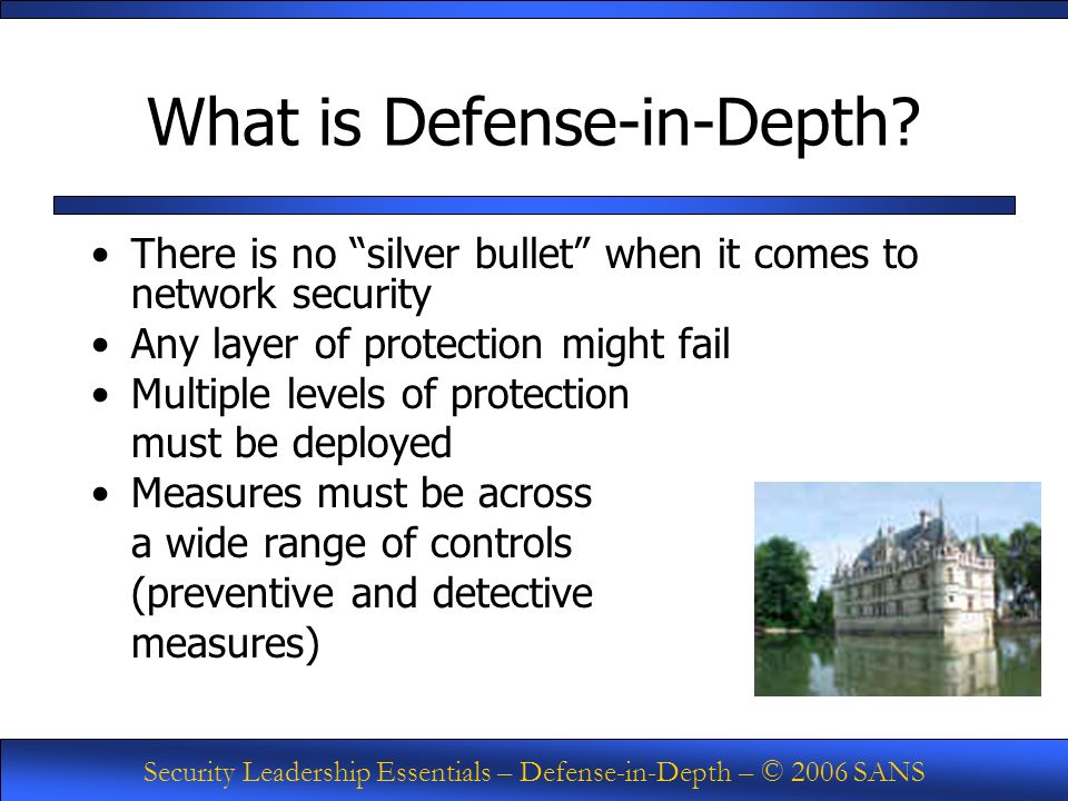 Defense In Depth What Is It Ppt Download