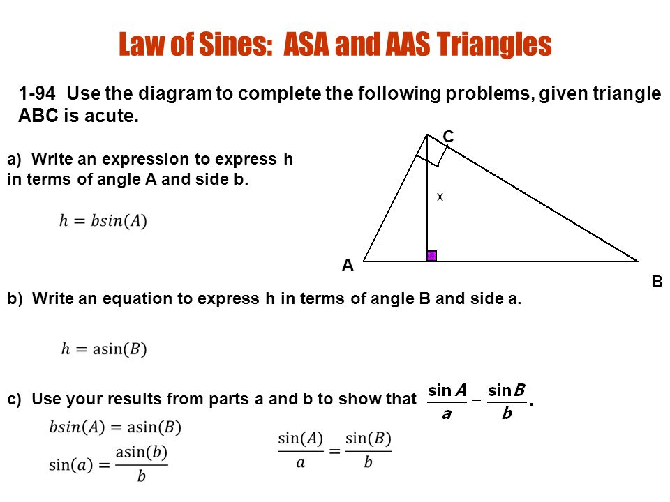 Section Law Of Sines And Area Ppt Download. 6 Law Of Sines Asa And Aas Triangles. Worksheet. Law Of Sines Aas Worksheet At Mspartners.co