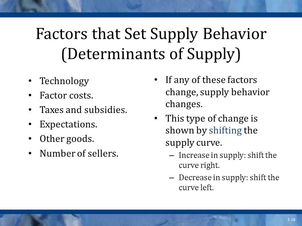 Supply and Demand The goal of this chapter is to explain how