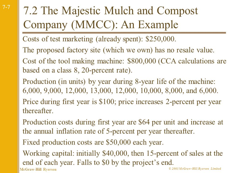 7.2 The Majestic Mulch and Compost Company (MMCC): An Example