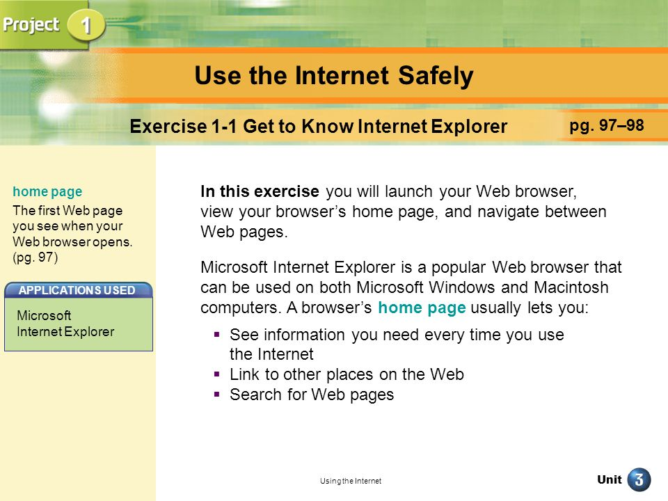 Use the Internet Safely