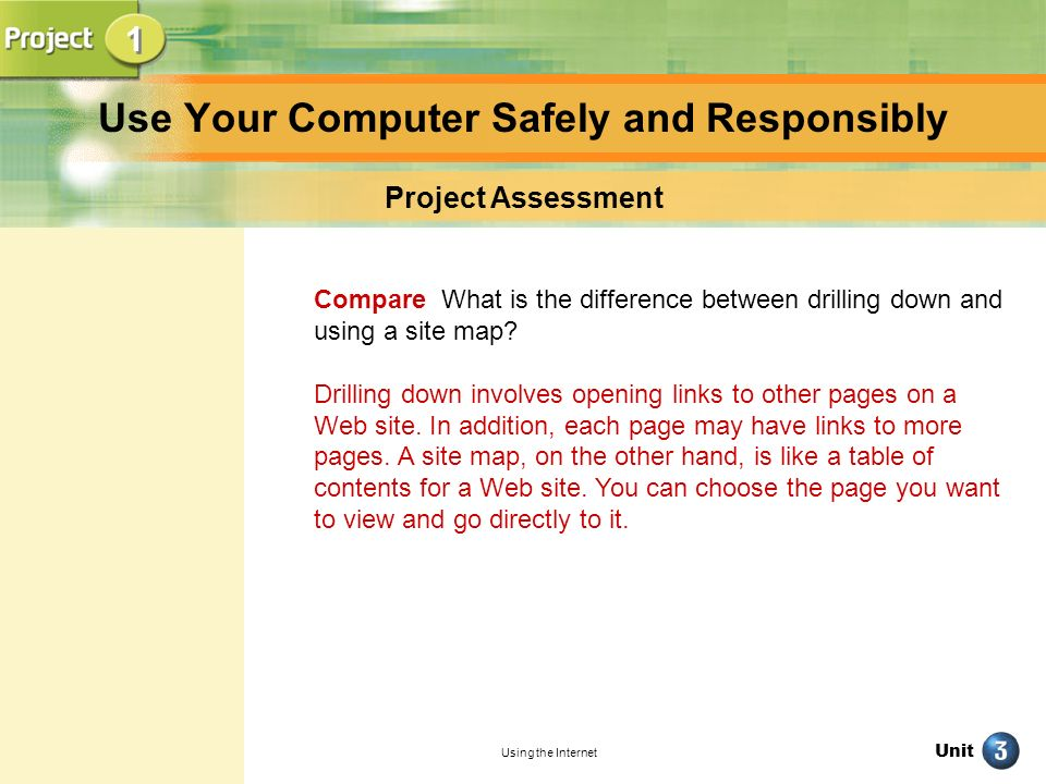Use Your Computer Safely and Responsibly