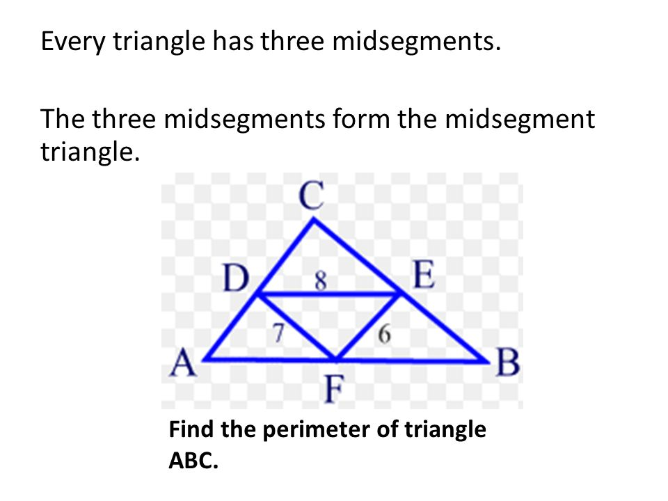 Proving the triangle midsegments theorem | study. Com.