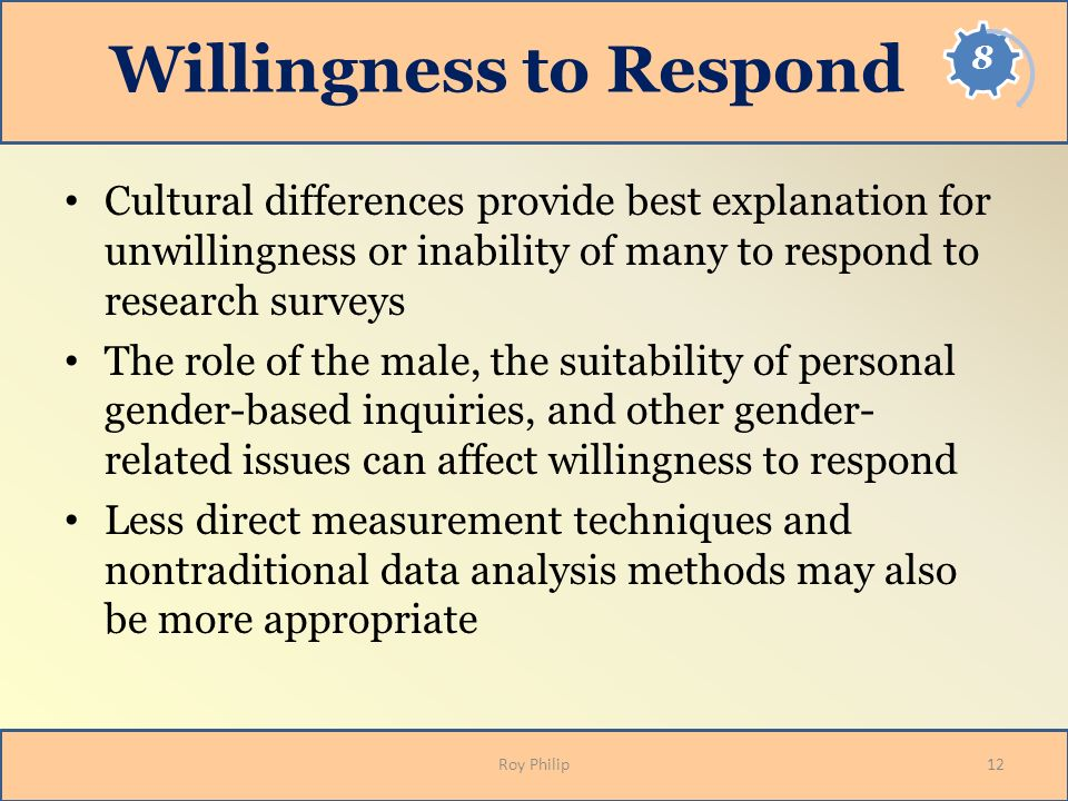 Willingness to Respond