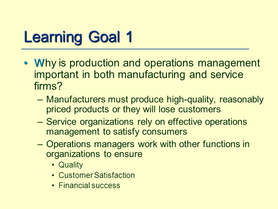 Achieving World-Class Operations Management - ppt video online download