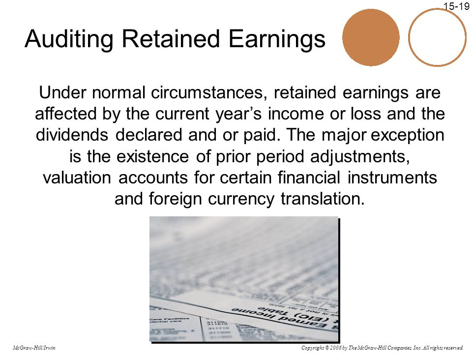 Auditing Retained Earnings