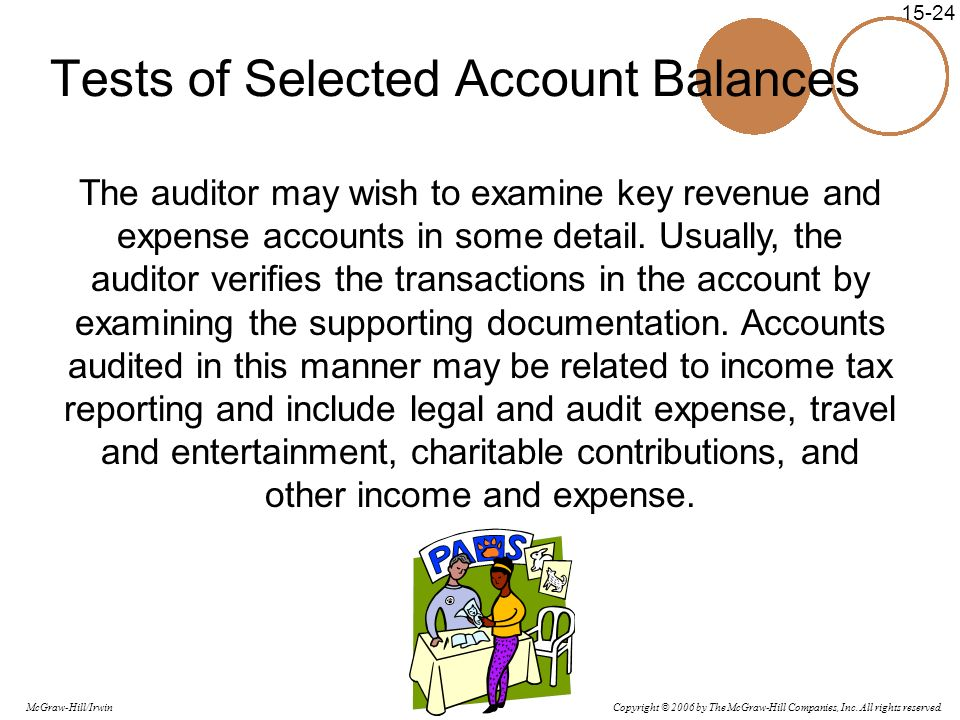 Tests of Selected Account Balances
