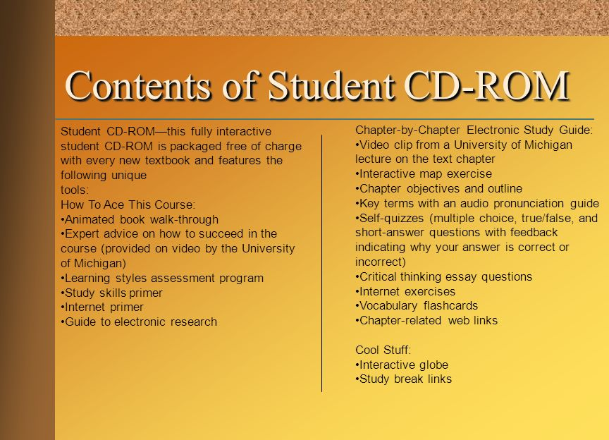 Contents of Student CD-ROM