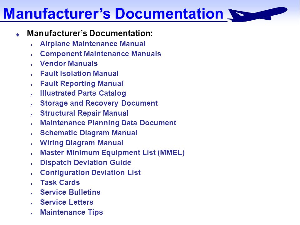 documentation for maintenance ppt video online download rh slideplayer com Aviation Maintenance Logos Aviation Maintenance Work Cards