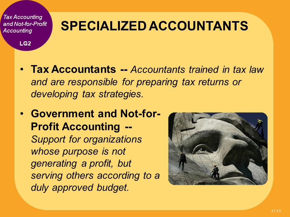 SPECIALIZED ACCOUNTANTS