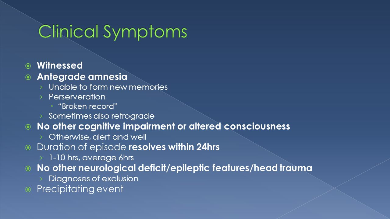 Amnesia is ... Definition, causes, symptoms and treatment 98