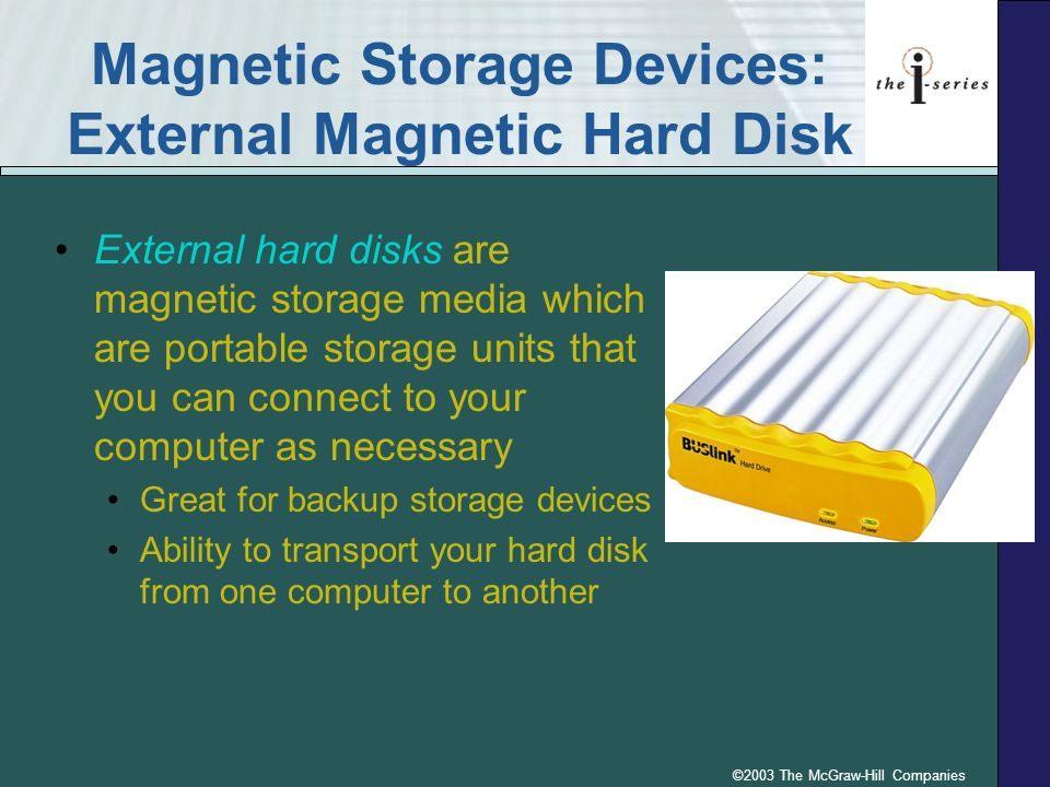Magnetic Storage Devices: External Magnetic Hard Disk