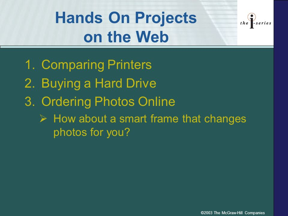 Hands On Projects on the Web