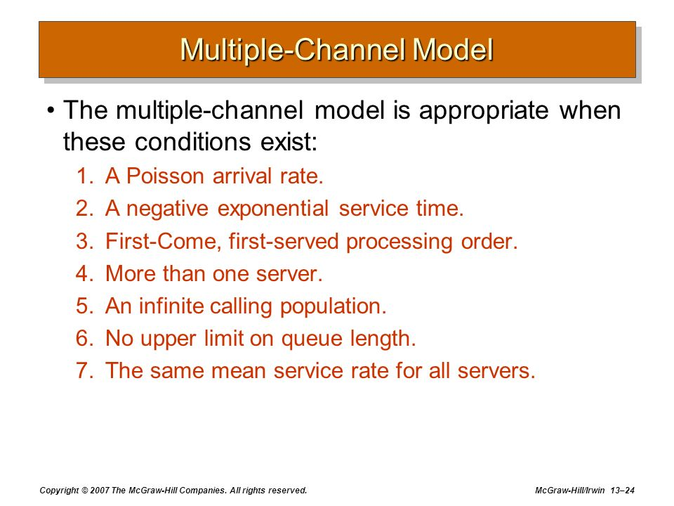 Multiple-Channel Model
