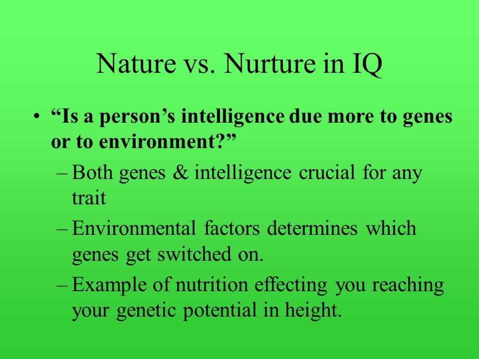 nature nurture intelligence