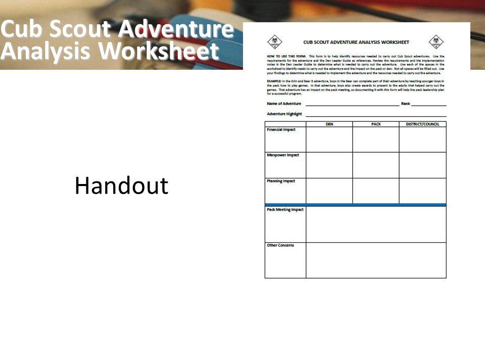 Cub Scout Pack Den Program Planning