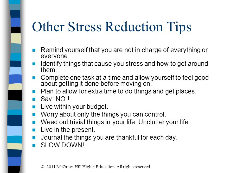 Other Stress Reduction Tips