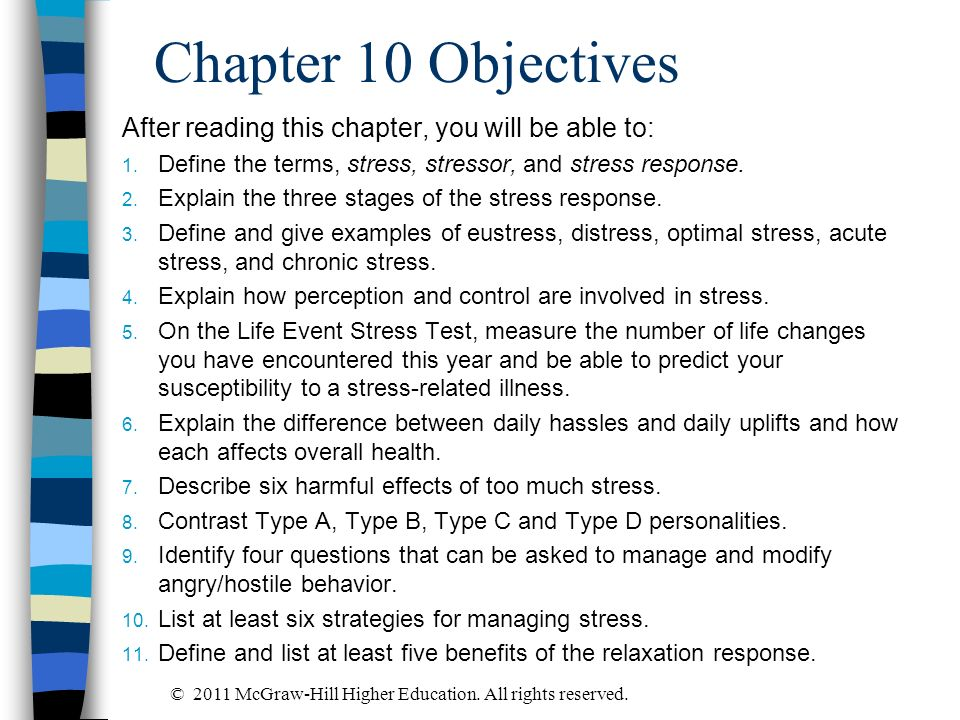 Chapter 10 Objectives After reading this chapter, you will be able to: