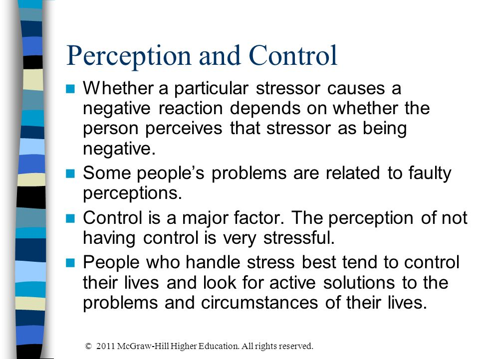Perception and Control